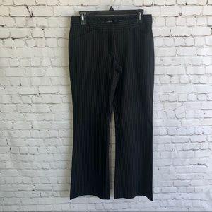 EXPRESS Editor Black Pinstripe Pants Size 4 Long
